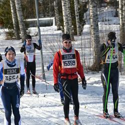 Skiing 90 km - Iain Moore (3654), Christer Jonsson (4358), Andreas Thomsen (4754), Frode Amdam (15359)
