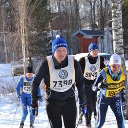 Skiing 90 km - Per Jonas Norberg (7398), Oskar Svensson (9849), Jenny Folkesson (18677)