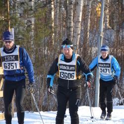 Skiing 90 km - Ola Petersson (6351), Björn Söderlund (9471), Tommy Blom (13606)