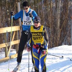 Skiing 90 km - Henrik Teneberg (7293), Nathalie Patoz (18912)