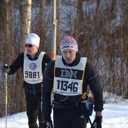 Skiing 90 km - Anders Runhem (9881), Fredrik Lagerholm (11346)