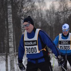 Skiing 90 km - Anders Jalkeus (8000), Marcus Möller (15303)
