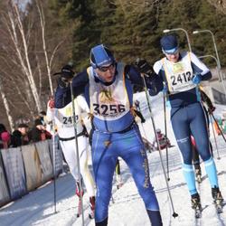 Skiing 90 km - Fredrik Nylund (2412), Johan Thalin (3256)
