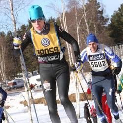 Skiing 90 km - Mikael Hjalmarsson (5602), Jennifer Friman (18059)