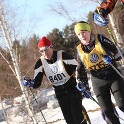 Skiing 90 km - Christer Tjäder (8401), Amanda Fjällberg (17153)