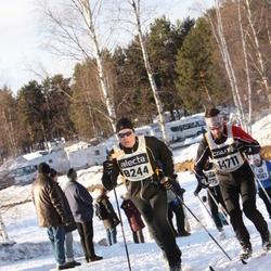 Skiing 90 km - Thomas Hellsten (8244), Emil Gyllensvaan (14711)