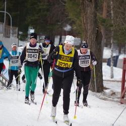 Skiing 90 km - Per Johansson (8042), Fredrik Wikström (11913), Kjell Larsson (12535), Hella Dietze (18204)