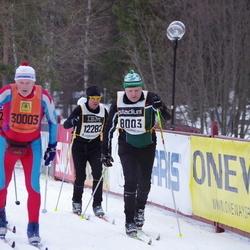 Skiing 90 km - Ingvar Svensson (8003), Tomas Kanter (12282), Börje Karlsson (30003)