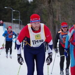Skiing 90 km - Erik Blomström (11418), Börje Karlsson (30003)