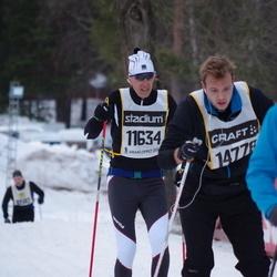 Skiing 90 km - Alessandro Berti (11634), Viktor Arvidsson (14778)