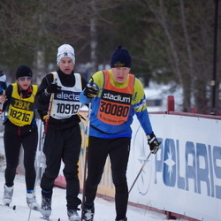 Skiing 90 km - Johan Welander (10919), Jannika Broomé (18216), Gillis Larsson (30080)