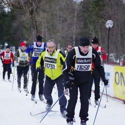 Skiing 90 km - Börje Lindroos (11658), Bjarne Norrgård (11730)