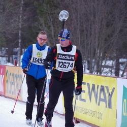 Skiing 90 km - Anders Blomqvist (12674), Daniel Knuuttila (13499)