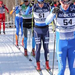 Skiing 90 km - Lars Suther (29), Fredrik Byström (51), Anton Järnberg (54)