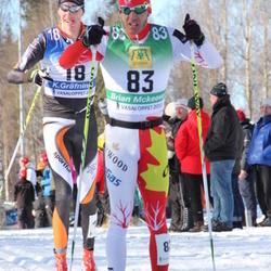 Skiing 90 km - Kalle Gräfnings (18), Brian Mckeever (83)