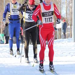 Skiing 90 km - Teemu Virtanen (99), David Gottfridsson (1112), Erik Viklund (1217)