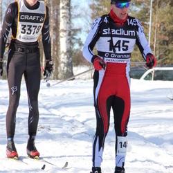 Skiing 90 km - Christian Grannas (145), Christoffer Eskilsson (3378)