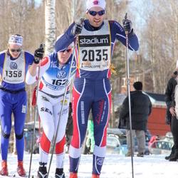 Skiing 90 km - Håkon Hjelstuen (162), Martin Löberg Kihle (1358), Henrik Eknor (2035)