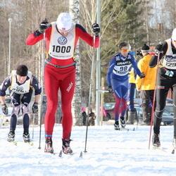 Skiing 90 km - Adam Johansson (98), Roger Espeli (1000), Vemund Øvstehage (12977)