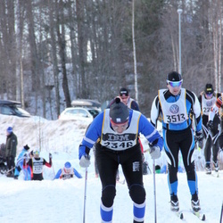 Skiing 90 km - Alexander Solovov (2346), Sebastian Dahlbacka (3513)