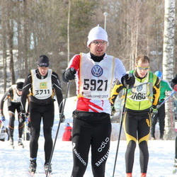 Skiing 90 km - Thomas Persson (3439), Fredrik Petersson (3711), Reto Kast (5921)