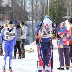 Skiing 90 km - Dag Sandblom (3004), Markus Gletthofer (3684), Henrik Jonsson (5179)