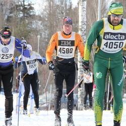 Skiing 90 km - Jonas Alwin (4050), Björn Börjesson (4528), Ola Olsson (4580)