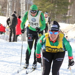 Skiing 90 km - Anders Sahlin (5945), Jenny Ramstedt (18785)