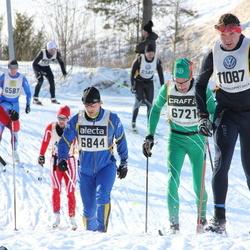 Skiing 90 km - Arild Nygaard (5618), Per Börjesson (6721), Olle Lundqvist (6844), Bo Strand (11087)