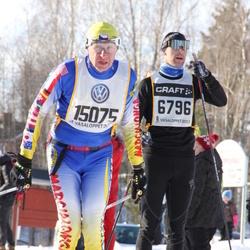 Skiing 90 km - Axel Boethius (6796), Petr Novotny (15075)