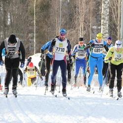Skiing 90 km - Pavels Kirilovskis (6894), Henry Fröcklin (7710)