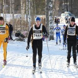 Skiing 90 km - Mikael Einarsson (7444), Christian Högberg (12852), Henrik Gabrielsson (13788)