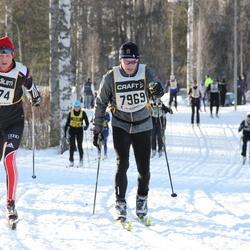 Skiing 90 km - Eberhard Christ (7874), Rune Dahlén (7969)