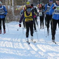 Skiing 90 km - Anders Thor (6810), Peder Sund (8987), Monica Hellström (17904)