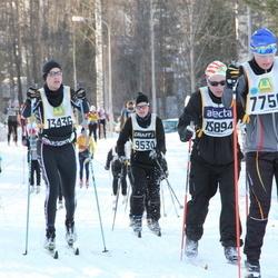 Skiing 90 km - Jonas Näslund (7756), Daniel Gustavsson (13436), Thomas Bergh (15894)
