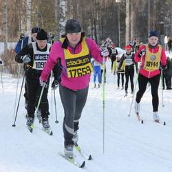 Skiing 90 km - Carina Johansson (17659), Åsa Sievert (18144)