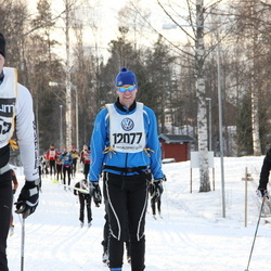 Skiing 90 km - Fredrik Pettersson (12077), Lisa Ekström (18074)