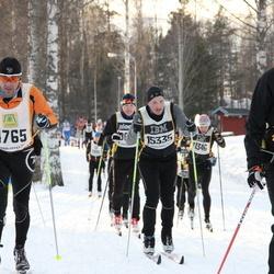 Skiing 90 km - Jean Marc Biever (4765), Fredrik Justesen (15335), Pekka Ahonen (15417)