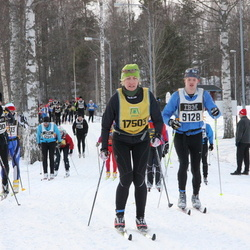 Skiing 90 km - Anton Hedström (9128), Henrik Pettersson (12780), Margareta Wenthzel (17503)