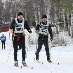 Skiing 90 km - Åke Gustafsson (11672), Ulf Erkers (14093)
