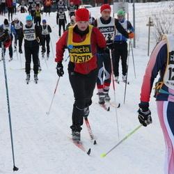 Skiing 90 km - Johan Larsson (12648), Lisa Holmqvist (17970), Christina Holmberg (18123)
