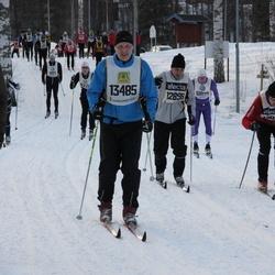 Skiing 90 km - Mikael Karlsson (8483), Fredrik Eckerström (12898), Bengt-Elof Nilsson (13485)