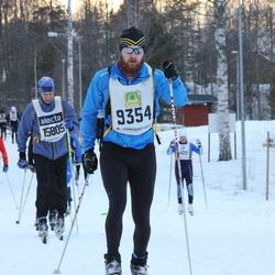 Skiing 90 km - Jonathan Fredriksson (9354), Henrik Pettersson (15805)