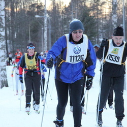 Skiing 90 km - Peter Nacke (11126), Janne Ilomäki (11539)