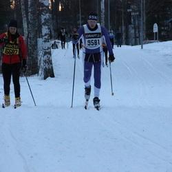 Skiing 90 km - Joakim Eriksson (9581), Carina Mårtensson (16687)