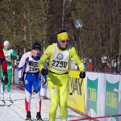 Skiing 90 km - Inge Flaat (1246), Bjørn Kvaal Hjermann (2290)