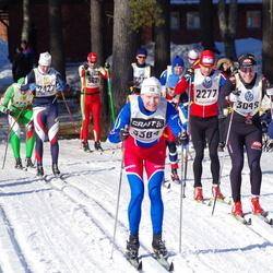 Skiing 90 km - Lennart Frommegård (2176), Kjartan Medle (2277), Fredrik Mohall (3049), Jörgen Aurén (3384)