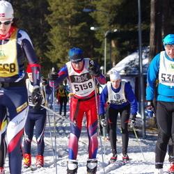 Skiing 90 km - Lars Gjerde (5158), Anders Hammar (5301)