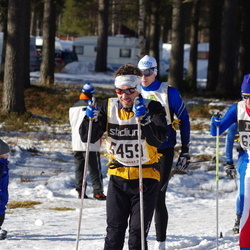 Skiing 90 km - Fredrik Reinholdsson (5459), Tobias Åberg (6372)