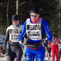 Skiing 90 km - Adrien Aubry (3100), Mikael Lindén (10365)